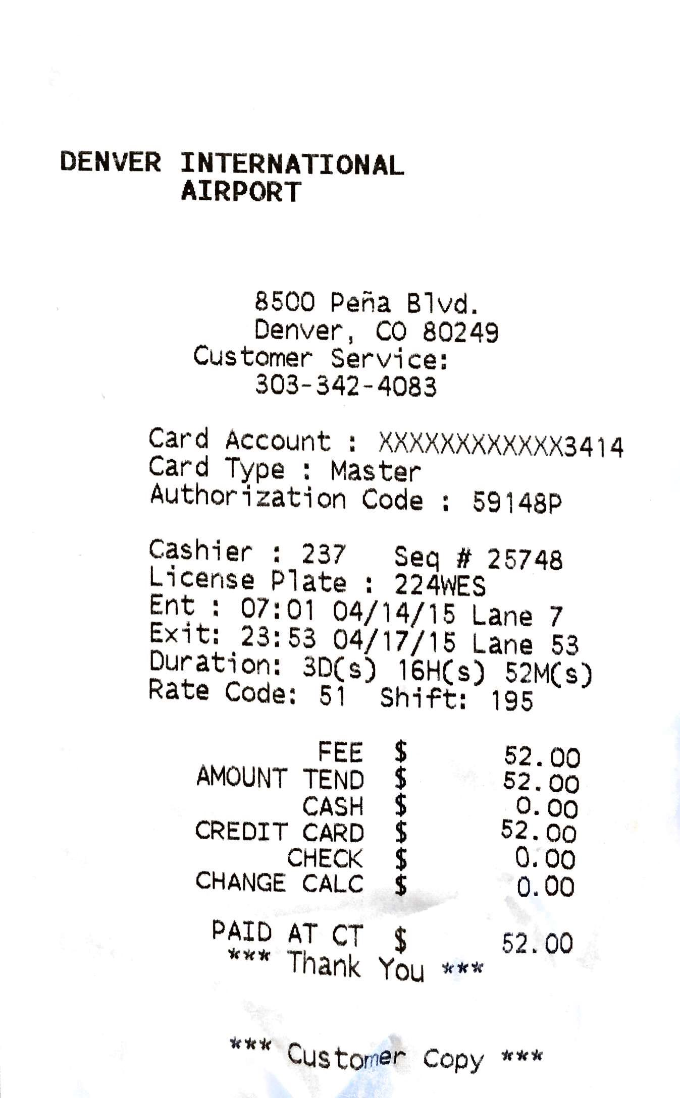 A thermal receipt that contains potentially harmful compound BPA