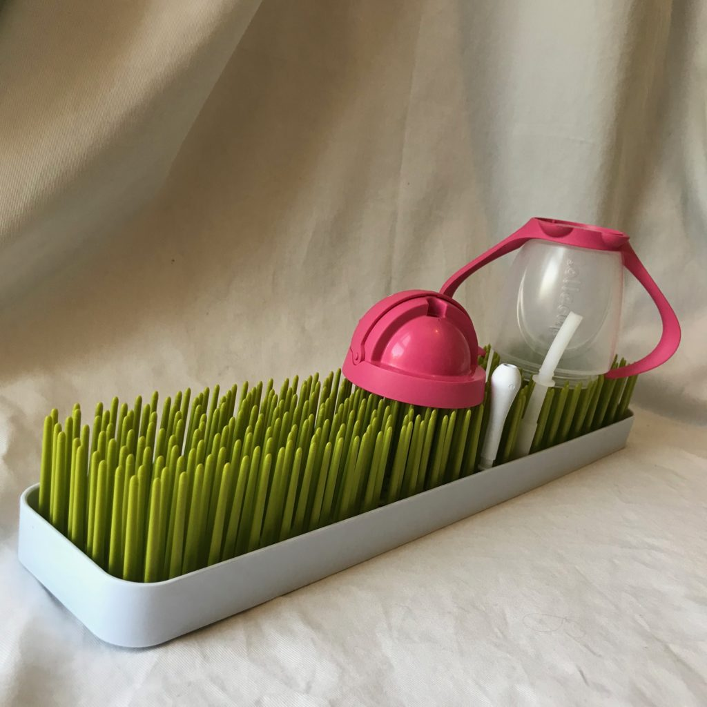 Patch countertop drying rack with a kids cup drying on it