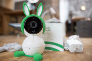 Arlo Baby monitor on a table in front of the box
