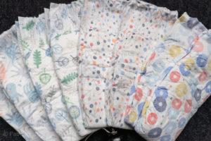 An array of Abby & Finn diapers