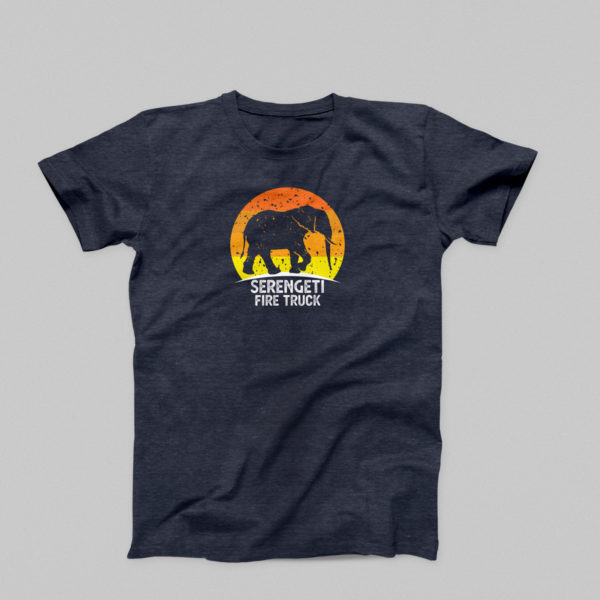 Serengeti Firetruck t-shirt in navy