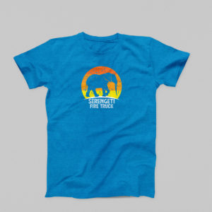 Serengeti Fire Truck t-shirt in royal blue