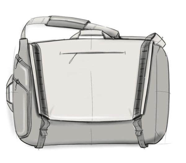 Rendering of a diaper bag for dads