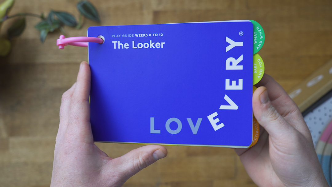 The Lovevery Looker Play Kit booklet