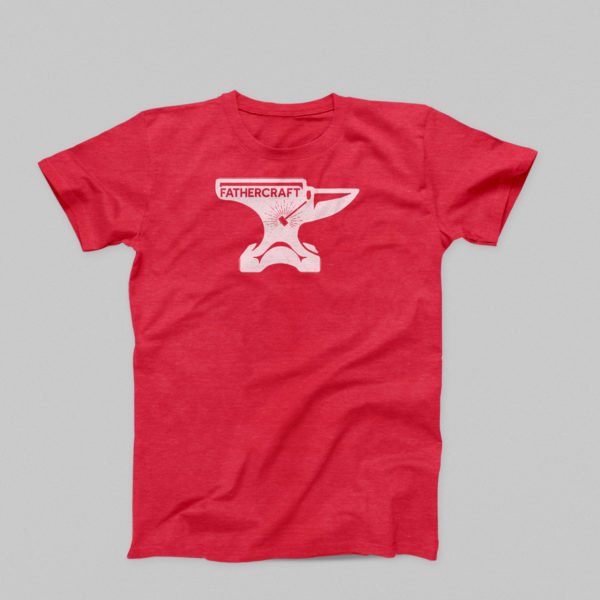 Fathercraft anvil and hammer shirt in red