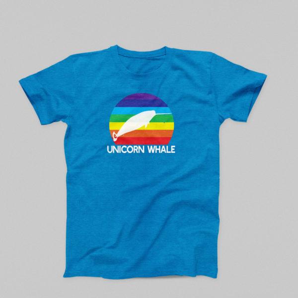 Unicorn Whale T-Shirt in Royal Blue