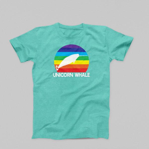 Unicorn Whale T-Shirt in Seafoam
