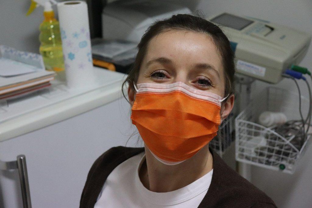 nurse, mask surgical mask, covid-19