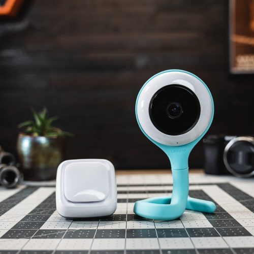 A Lollipop baby monitor and sensor on a table